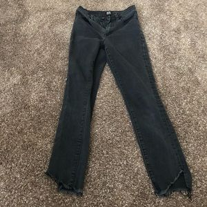BDG twig high rise cropped faded black jeans